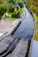 Water slide (The Adventurous Eye) Tags: plant water power dam slide vodn elektrrna mohelno