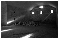 the power of light (Istvan Penzes) Tags: bw white black hungary availablelight rangefinder handheld manualfocus komrom fortmonostor leicam9 penzes superelmarm13421mmasph