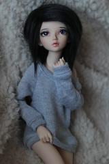 New Sweater (CaylaMay) Tags: canon doll chloe bjd fairyland abjd birdy joints jointed dollie balljointeddoll balljointdoll mnf dollphotography minifee canon60d dollfairyland fairylanddoll fairylandminifee fairylanddolls minifeechloe makoeyes smpdoll