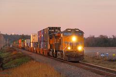 Southbound UP Intermodal Train at Dexter, MO (Mo-Pump) Tags: railroad train locomotive railfan railroader
