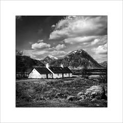 Blackrock cottage (tkimages2011) Tags: mono scotland highlands cottage monochromatic glencoe blackjack