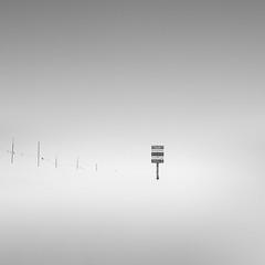 Piste - Explore (Owen O'Grady) Tags: blackandwhite white mountain snow black art monochrome switzerland skiing minimal explore le minimalist
