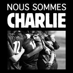 Nous sommes CHARLIE (SylvainMestre) Tags: freedom peace rugby together liberté ensemble paix jesuischarlie
