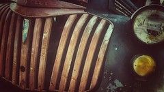 Chevy (Mark.L.Sutherland) Tags: light chevrolet lamp car rust rusty samsung grill chevy vehicle headlight grille phonecamera effect decaying