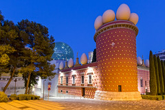 Dal Museum  - Figueres (Luca Quadrio) Tags: travel blue red summer sky color building art tourism monument museum architecture design spain europe artist exterior surrealism egg landmark catalonia spanish catalunya dali figueres spagna 2014 figueras