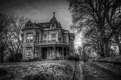 Loneliness (Jon Dickson Photography) Tags: abandoned st blackwhite ancient missouri mansion jospeh