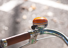 Ring-a-Ding Handlebar (Orbmiser) Tags: autumn cold fall leaves bicycle oregon portland leaf nikon bell windy handlebar ringer d90 55200vr