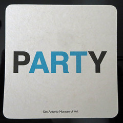 pARTy (Monceau) Tags: party art square word coaster flickrbingo3o67