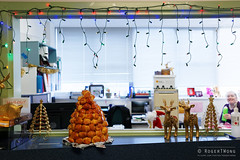 20141202-05-Tanya's croquembouche (Roger T Wong) Tags: christmas food office australia tasmania hobart croquembouche 2014 sonyalpha7 sonya7 carlzeiss35mmf28 rogertwong sonyilce7