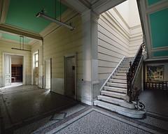 (Subversive Photography) Tags: green college beautiful architecture stairs painting university belgium decay corridor urbanexploration marble ornate derelict urbex grandeur danielbarter