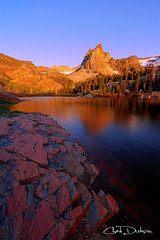 Once Upon a Rock (Chad Dutson) Tags: light sunset mountain lake mountains reflection nature water rock forest landscape rockies evening utah rocks wasatch glow rocky peak glacier sundial wilderness blanche scars americanwest scrapes waterscape glacial americansouthwest chaddutson