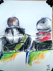 Bus parisien (Hlne Lemeunier) Tags: paris bus sketches croquis mtroparisien helenelemeunier