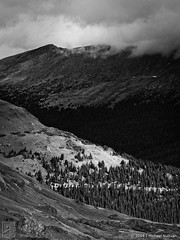 Layers, Rocky Mountain National Park (JMichaelSullivan) Tags: bw mountains landscape 100v nationalpark nikon colorado 10f 600v dxo rockymountain layers 200v rockymountainnationalpark 500v 2012 d800 300v 5f mjsfoto1956 400v opticspro 24120mmf4 piccure