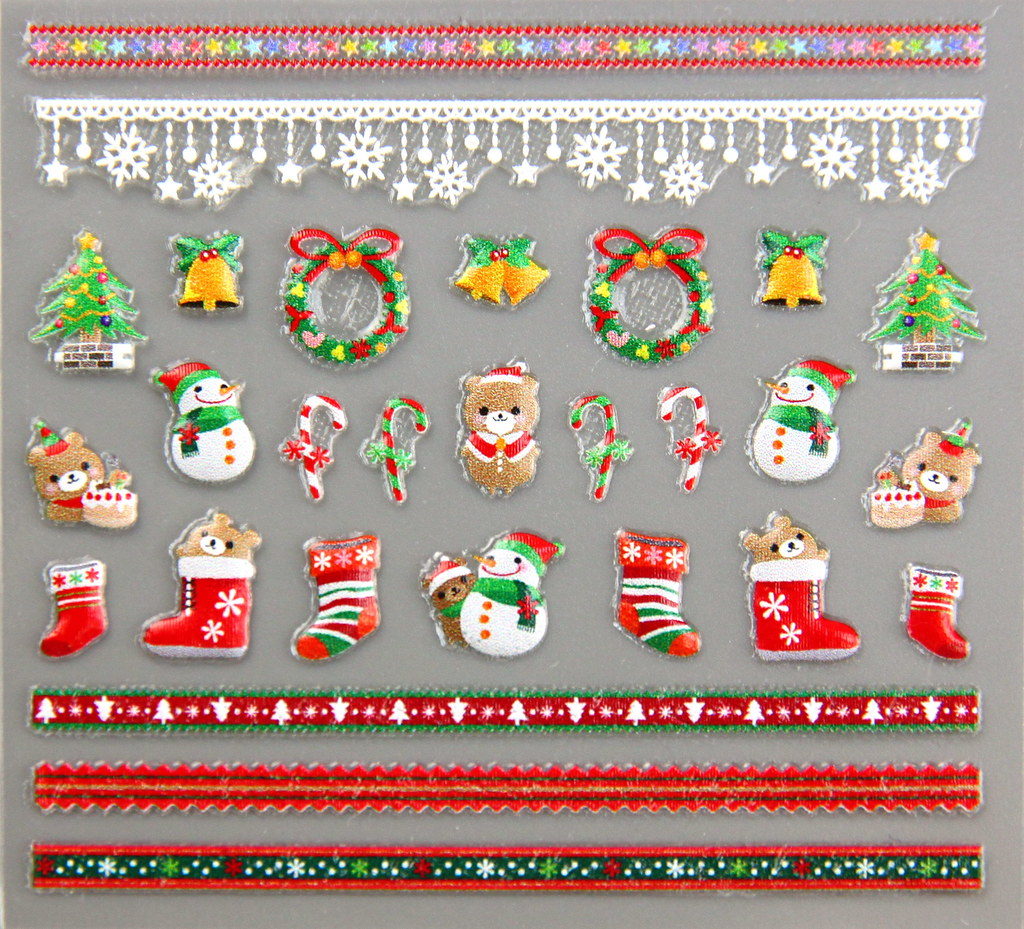 聖誕凝膠指甲