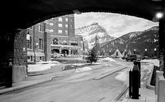 Under the Arch, Banff Springs Hotel (John G Meadows) Tags: banff bessar 35mmf25colorskopar