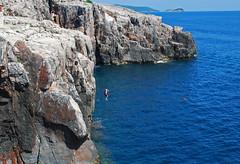 Living dangerously (gebbie_jas1960) Tags: sea cliff holiday sports fun dangerous jump croatia dubrovnik adrenalin