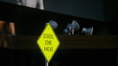 School Zone Ahead by Theen ..., on Flickr