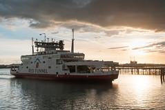 Red funnel Arrival (MrBlackSun) Tags: uk sunset port docks harbour quay southampton greatbritanny