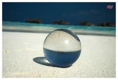 crystal on the beach