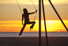 Swing Out Sister (JKG II) Tags: ocean california blue sunset sea sky west beach sports nature beauty coast losangeles amazing cool sand bars warm surf exercise pacific santamonica awesome lifeguard rings socal human workout tones