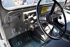Old Jeep (Roving I) Tags: signs cars vintage army jeeps military vietnam vehicles caution controls fans veteran switches basic danang levers steeringwheels