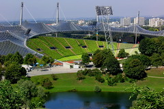 Munich, Olympic Stadion 1972 (gerard eder) Tags: world city travel germany munich mnchen bayern deutschland bavaria europa europe ciudades alemania olympic stadion stdte reise baviera olimpia