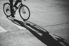 (red line highway) Tags: street city light shadow people blackandwhite white black bicycle stpetersburg photography nikon russia