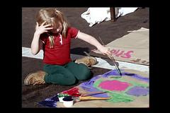 ss28-52 (ndpa / s. lundeen, archivist) Tags: people color film girl boston painting paper paint child massachusetts nick slide slideshow mass 1970s streetfair dewolf early1970s nickdewolf photographbynickdewolf slideshow28 gettingitonpaper