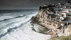 The village (marcolemos71) Tags: sea seascape portugal water clouds rocks waves stones sintra azenhasdomar