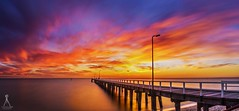 Seaford Pier Sunset - 13.05.2016 (Laws Photography | www.lawsphotography.com) Tags: ocean longexposure sunset seascape color water clouds canon landscape pier colorful outdoor shoreline melbourne ndfilter neutraldensityfilter longexposurephotography amazingskies beacheslandscapes longexposuresunset canon6d longexposurecolour nd10stop melbournelongexposure longexposurepanorama lawsphotography vaughanlaws
