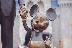 It All Started With a Mouse (nicholeotter) Tags: world street usa castle smile statue mouse orlando florida magic main kingdom ears disney mickey cinderella walt partners