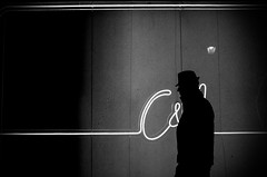 . (glynbrownson) Tags: madrid city urban blackandwhite monochrome silhouette night dark spain noir mood streetphotography highcontrast atmosphere metropolis ricohgr wwwglynbrownsoncom