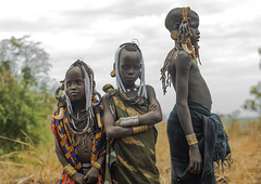 Mursi tribe children with adornments on the heads, Omo valley, Mago park, Ethiopia (Eric Lafforgue) Tags: africa portrait people color boys childhood horizontal outdoors child native african ivory jewelry tribal ornament ornaments bracelet blackpeople omovalley tradition ethiopia tribe ethnic bizarre mursi jewel ethnicity tusk adornment hornofafrica ethnology ethiopian nomadic eastafrica 3people abyssinia realpeople threepeople blackskin adornments loweromovalley africanethnicity indigenousculture africanculture animalteeth hippoteeth southethiopia murzu magopark blackethnicity ethio162222