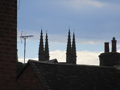 St Mary's Parish Church, Church Gate, Lutterworth, Leicestershire (LookaroundAnne) Tags: roof chimney church rooftops leicestershire roofs pinnacles lutterworth gwuk