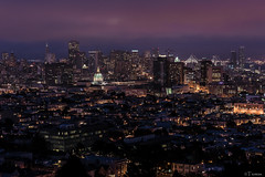 From Twin Peaks (Tiomax80) Tags: sf sanfrancisco california ca city travel blue urban panorama usa fog night america lights us nikon san francisco raw nef cityscape view nocturnal foggy 85mm twin visit twinpeaks hour outlook bluehour sight peaks nikkor heure bleue d610 heurebleue tiomax tiomax80