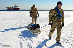 To Worlds End  Royal Navy completes historic patrol (Defence Images) Tags: ocean uk terrain cold ice water weather landscape ship military freezing antarctica equipment british icy defense climate defence sledge personnel royalnavy royalmarines identifiable hmsprotector a173 antarcticpatrolship icepatrolandsurveyvessel