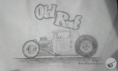 Rat Rod Sketch (Sir.Manperson) Tags: sketch rat rod