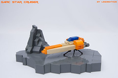 01_GARC_Star_Cruiser (LegoMathijs) Tags: orange scale rock star lego space tan fast micro scifi spaceship cruiser moc garc foitsop legomathijs