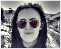 Selective Sunglasses (Billy McDonald) Tags: reflection sunglasses scotland hdr kirstin selectivecolour