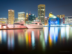 Baltimore Harbor at Night (rclatter) Tags: longexposure water night harbor voigtlander olympus baltimore ii mk em5 175095