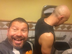 IMG_9381 (danimaniacs) Tags: man hot sexy male guy pee beard bathroom toilet hunk piss cincodemayo scruff