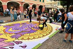 DSC_2524 infiorata 2016 (3 gigio) Tags: people work country di fiori pietra petali con paesaggio fatte lavoro ligure figura infiorata esecuzioni