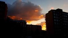 Sunset clouds (blondinrikard) Tags: buildings clouds hgsbo gteborg