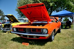 Road_Apples_068_DSC_2695 (Nomad Joe) Tags: summer usa cars plymouth madison classics cuda wi barracuda 1973 carshow vfw saturdayinthepark roadapples