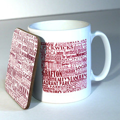 forgotten haunts liverpool mug and coaster (rethinkthingsltd) Tags: city liverpool manchester design parry forgotten mug local coaster hacienda scouser haunts ilsa pickwicks epics typographically rethinkthings