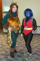 Squirrel Girl and Nightcrawler (rgaines) Tags: phoenix drag costume cosplay xmen nightcrawler crossplay squirrelgirl awesomecon phoenixforce unbeatablesquirrelgirl awesomecon2016