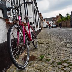 Damme red bicycle (wellingtonandsqueak) Tags: belgium c1 damme