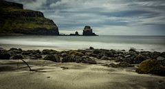 Talisker Bay - Explore 150616 (cliveg004) Tags: longexposure sea sky skye clouds sand isleofskye cliffs explore le talisker explored taliskerbay minginish