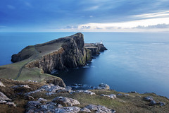 Neist Point (Yek Huang) Tags: neistpoint isleofskye scotland ocean lighthouse unitedkingdom longexposure point neist nikon 1424 cloud sky water sea blue sunset magichour d4s landscape uk