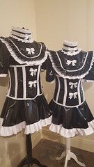 PVC dresses (Ready2Role) Tags: pvc sissymaid sissydress